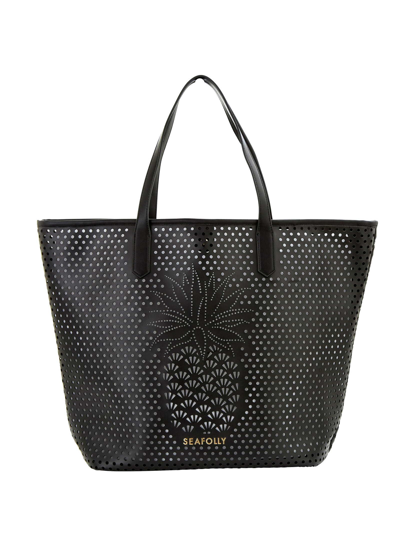 Seafolly Carried Away Pineapple Tote - Black