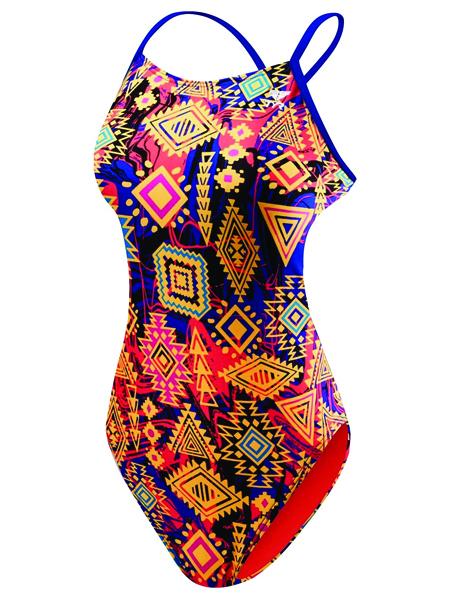 TYR Girls Santa Ana Cutoutfit Swimsuit