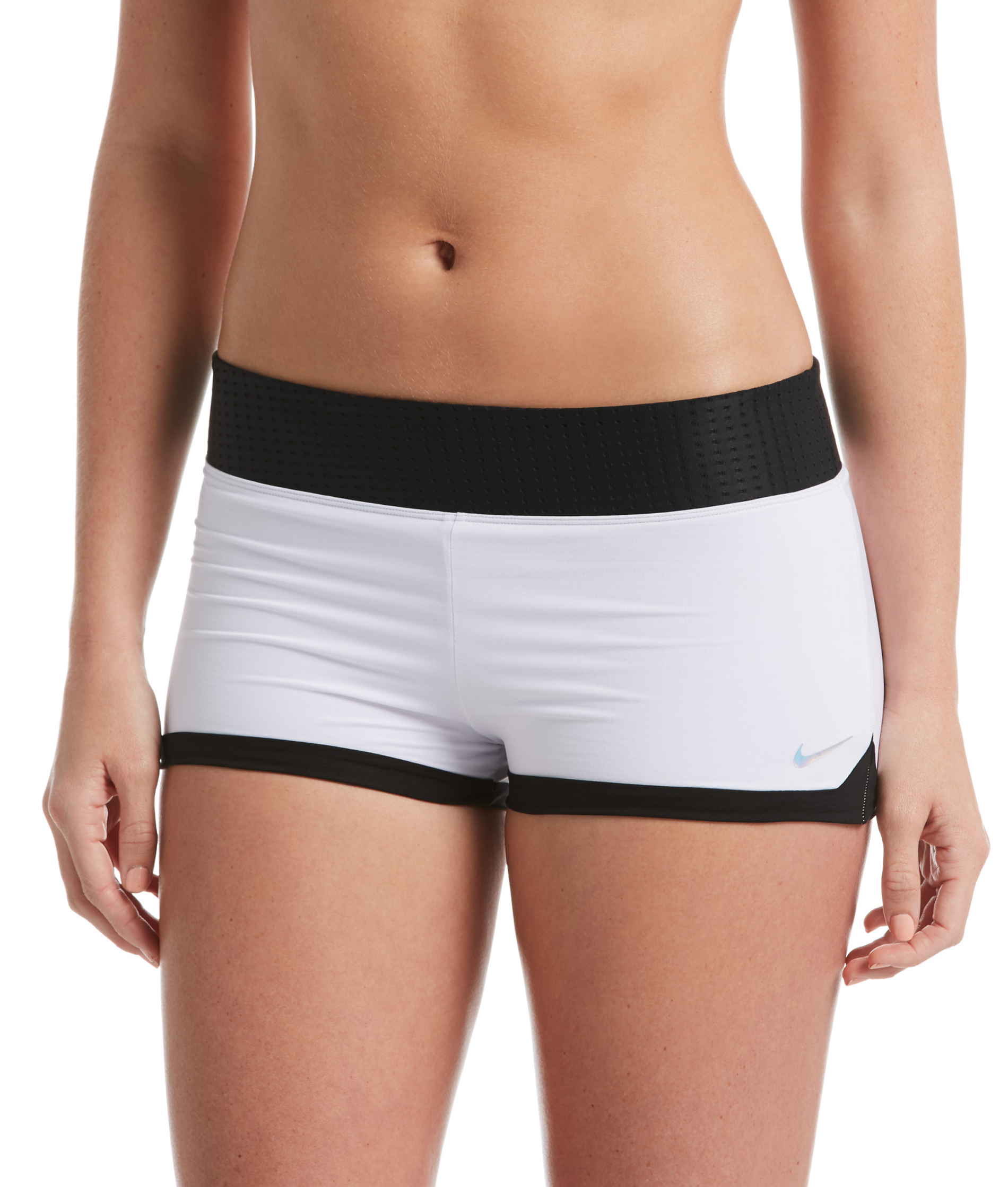 Nike Swim Ladies Kick Short - White/Black