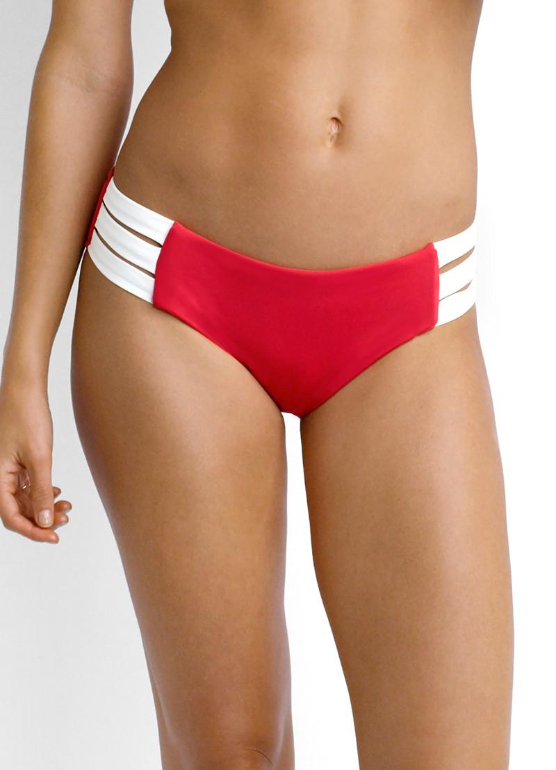 Seafolly block party multi strap hipster bikini pant - (sale non-refundable)