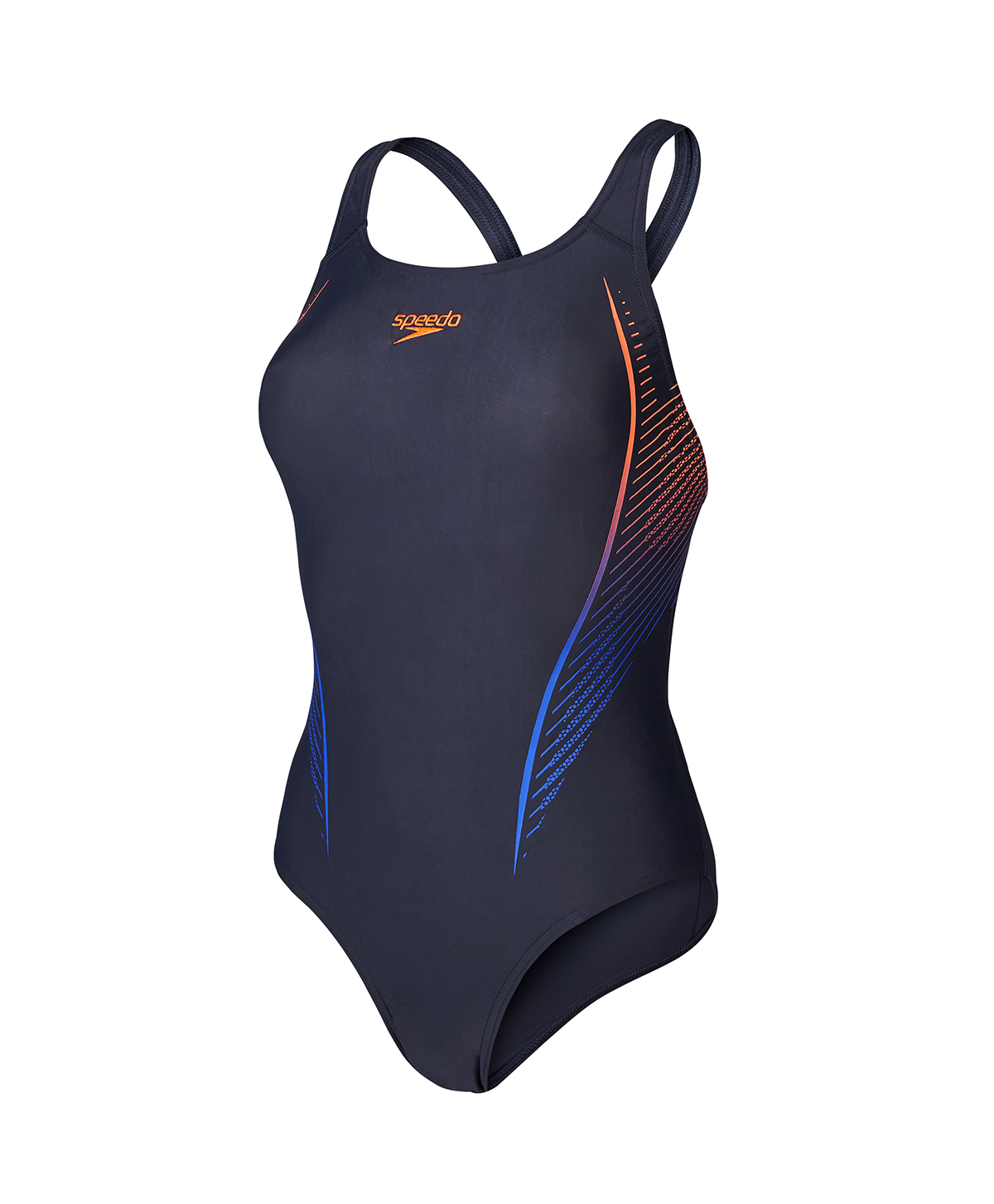 Speedo Ladies Placement Powerback- Grey