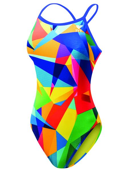 TYR Girls Quartz Crosscutfit Swimsuit