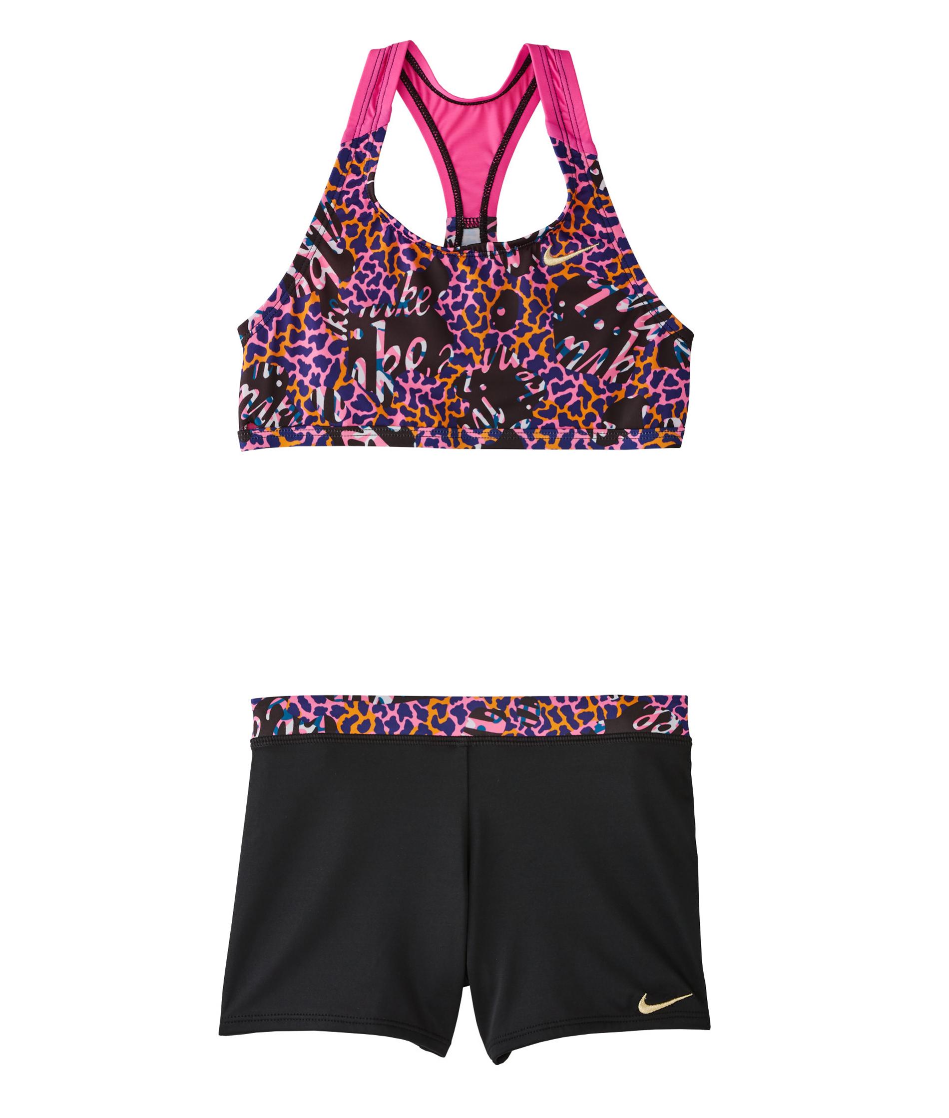 Nike Swim Girls Racerback Sport Bikini - Black