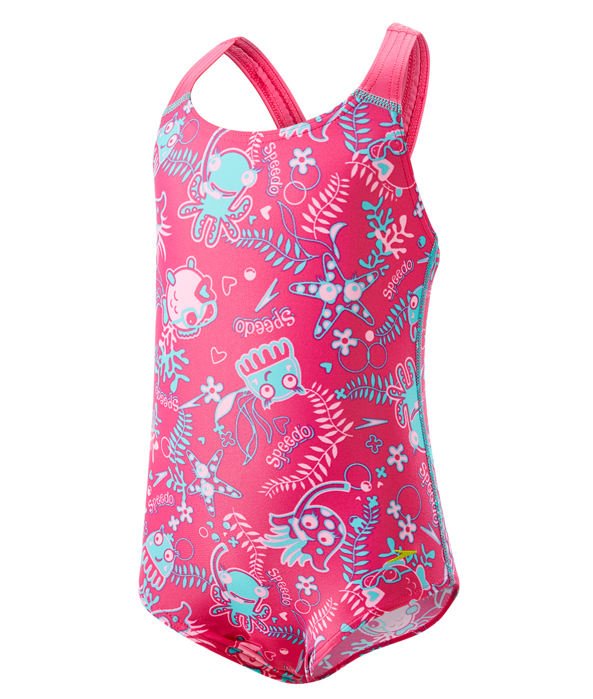 Speedo Seasquad Infant Girls Allover Swimsuit - Pink