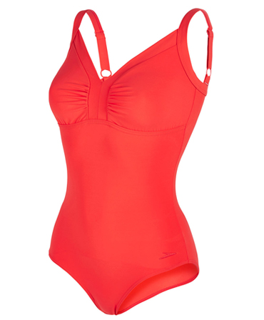 Ladies Speedo Sculpture Watergem One Piece - Red