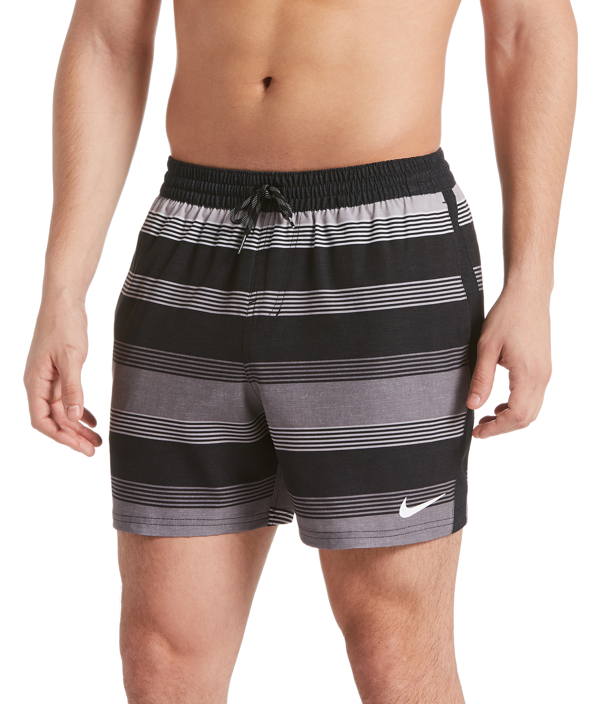 Nike Swim Linen Racer 5 Volley Short - Black