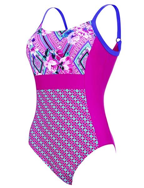 Zoggs Ladies Havana Poolside Side Panel Swimsuit