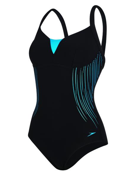 Speedo Sculpture Shinedream Placement Swimsuit