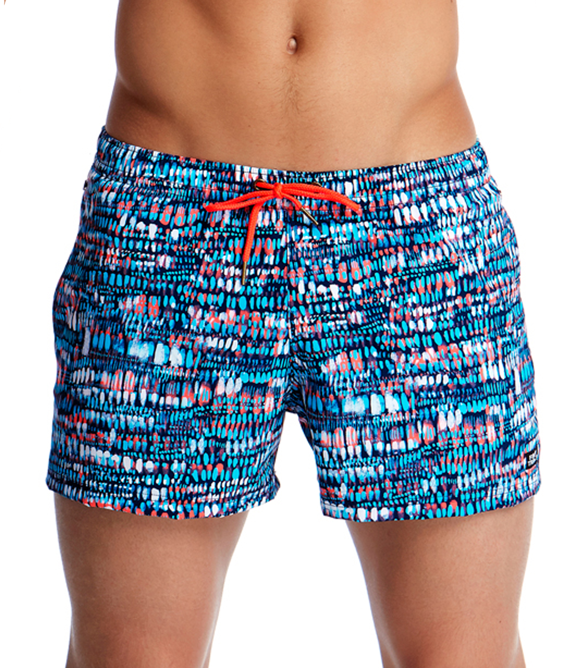 Funky Trunks Mens Lotsa Dots Shorty Shorts