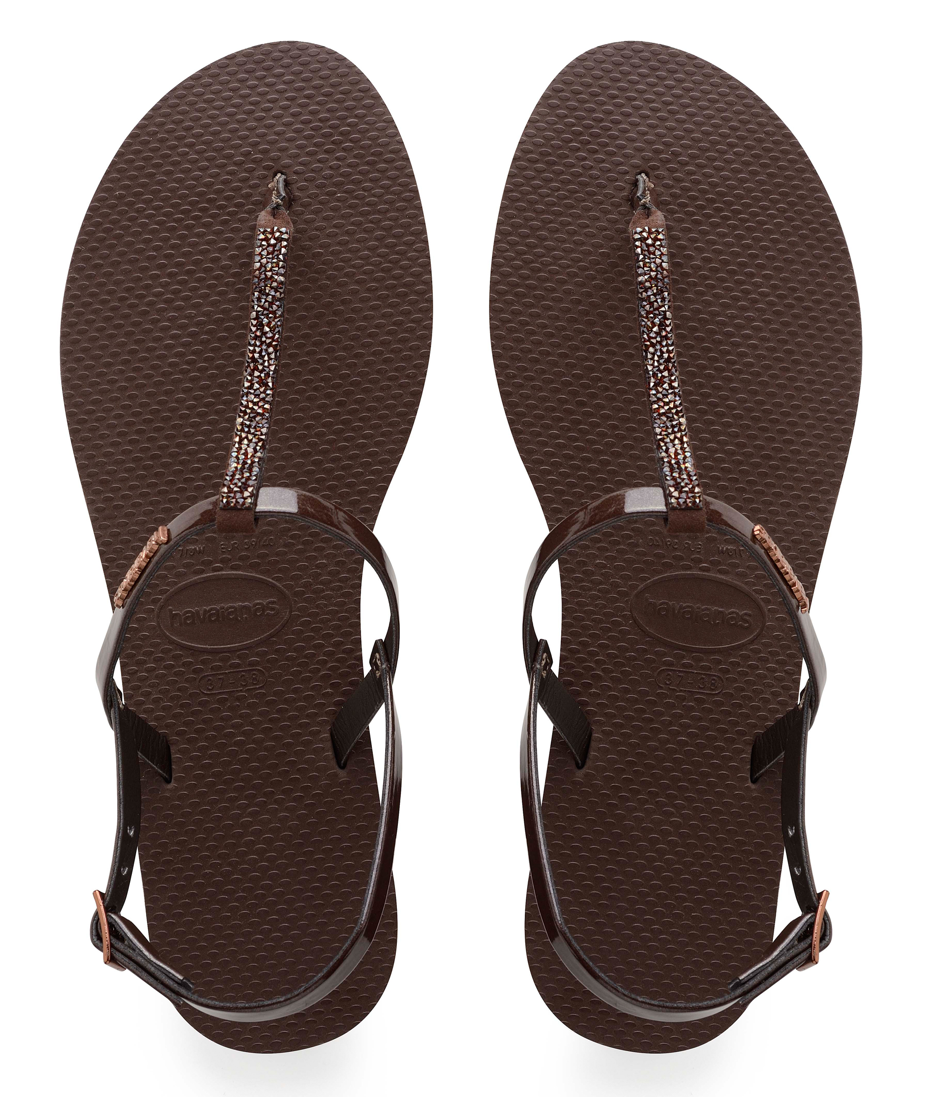 Havaianas You Riviera Crystal Dark Brown