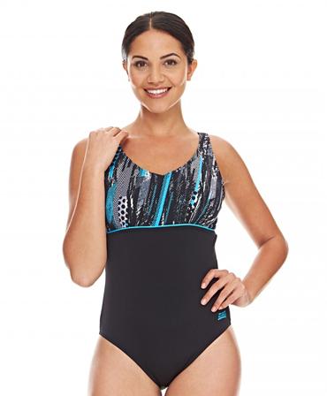 Zoggs Ladies Minnamurra V Neck Clipback Swimming Costume (DD - F cup)