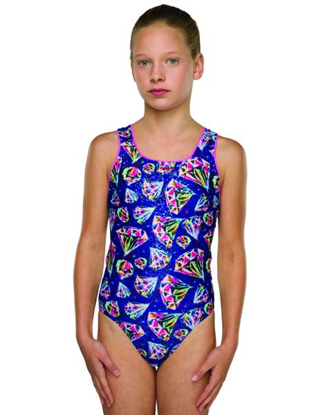 Maru Girls Razzle Sparkle Auto Back Swimsuit