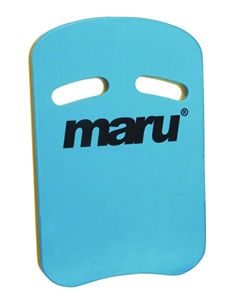 Maru Two Grip Fitness Kickboard - Turquoise/Orange/Lime