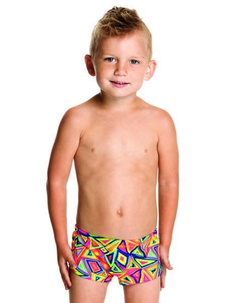 Funky Trunks Toddler Boys Crazy Crayon Trunks