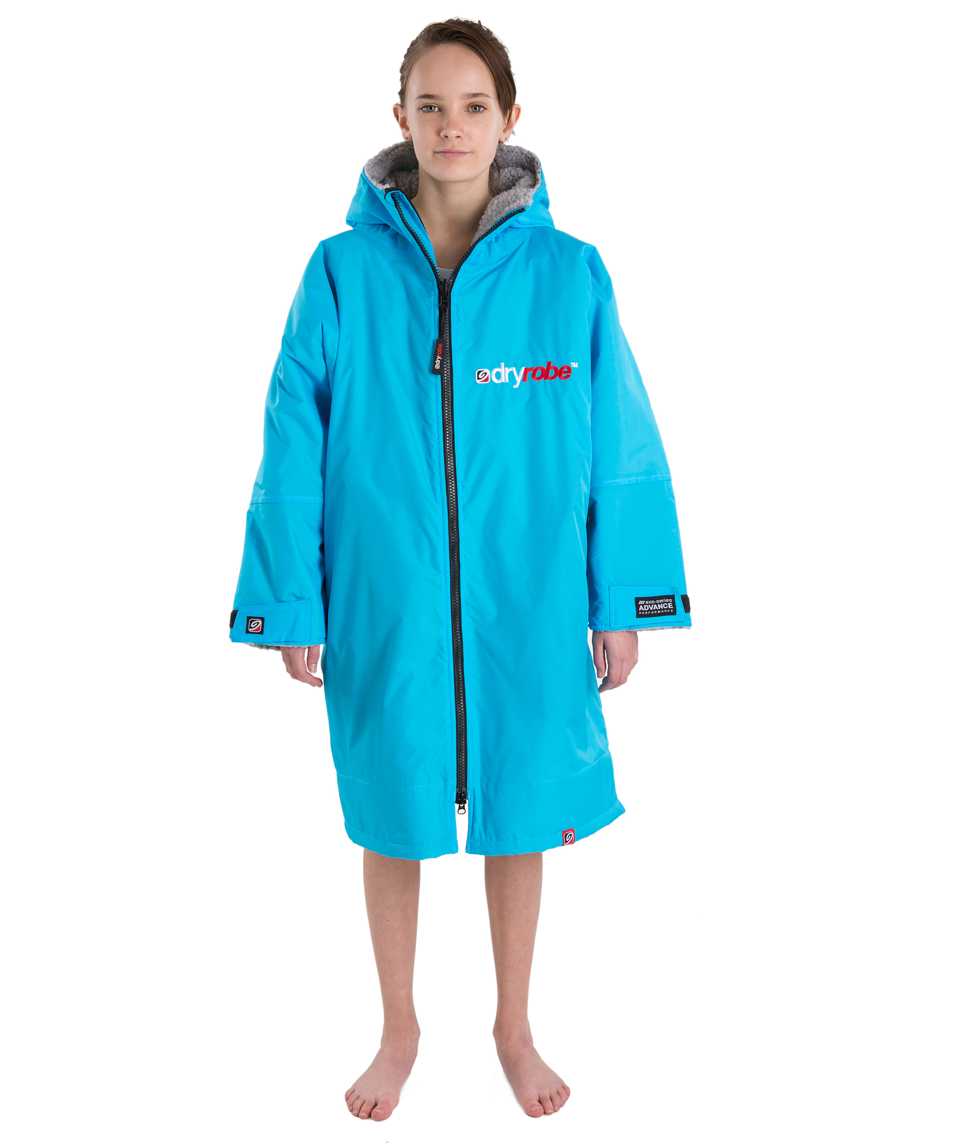 Dryrobe Advance Long Sleeve Sky Blue/Grey - Small