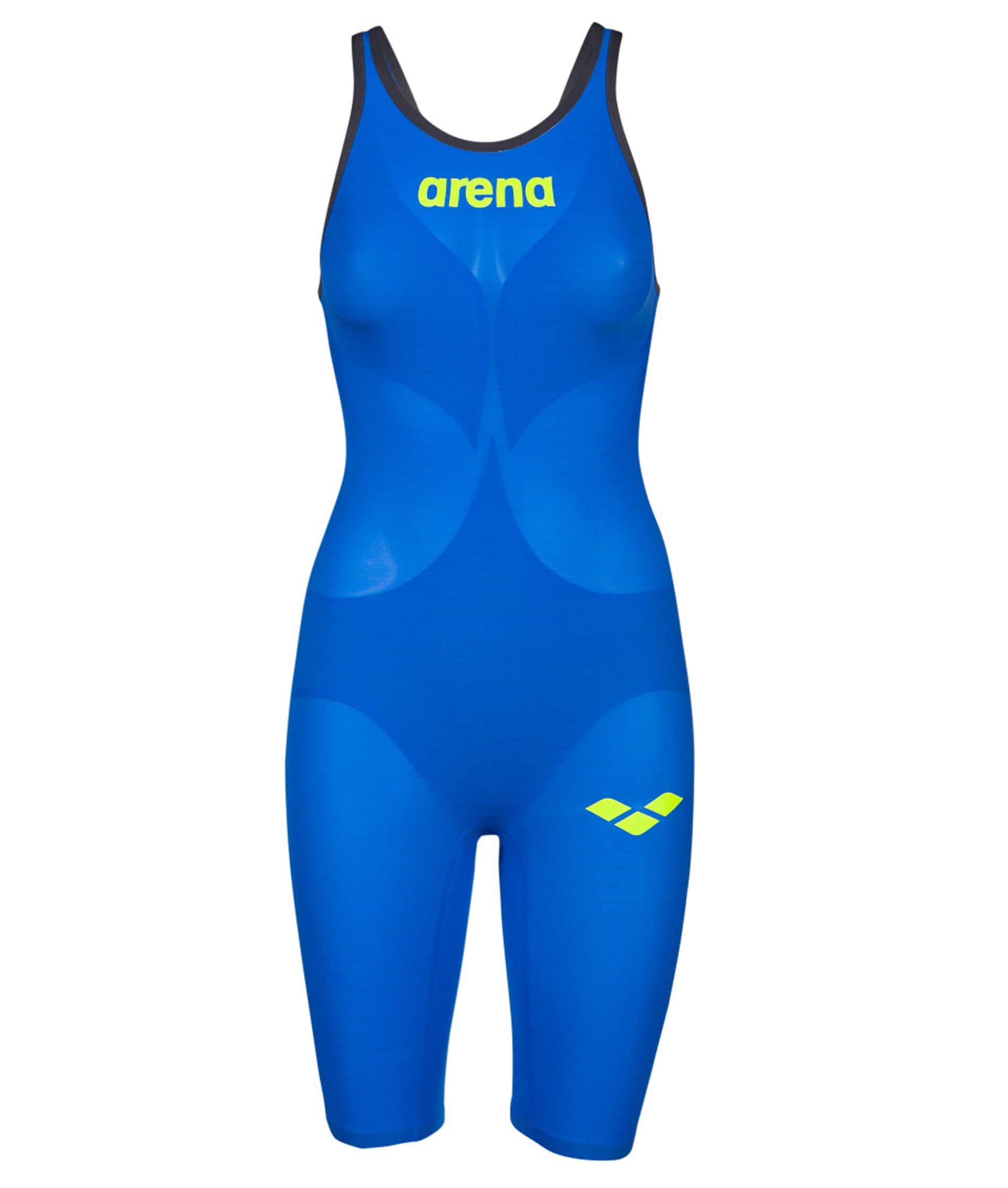 Arena Womens Carbon Air2 Open Back Kneeskin - Blue/Grey/Yellow