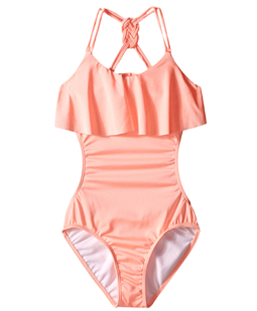 Seafolly kids Pool Party Cut Out Tank Swimsuit