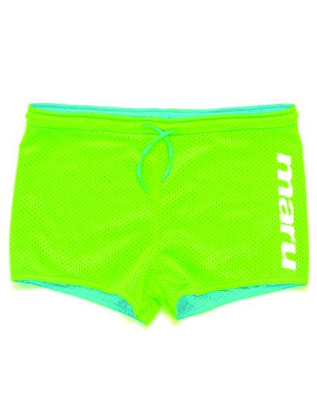 Maru Unisex Reversible Drag Shorts - Turquoise/Lime