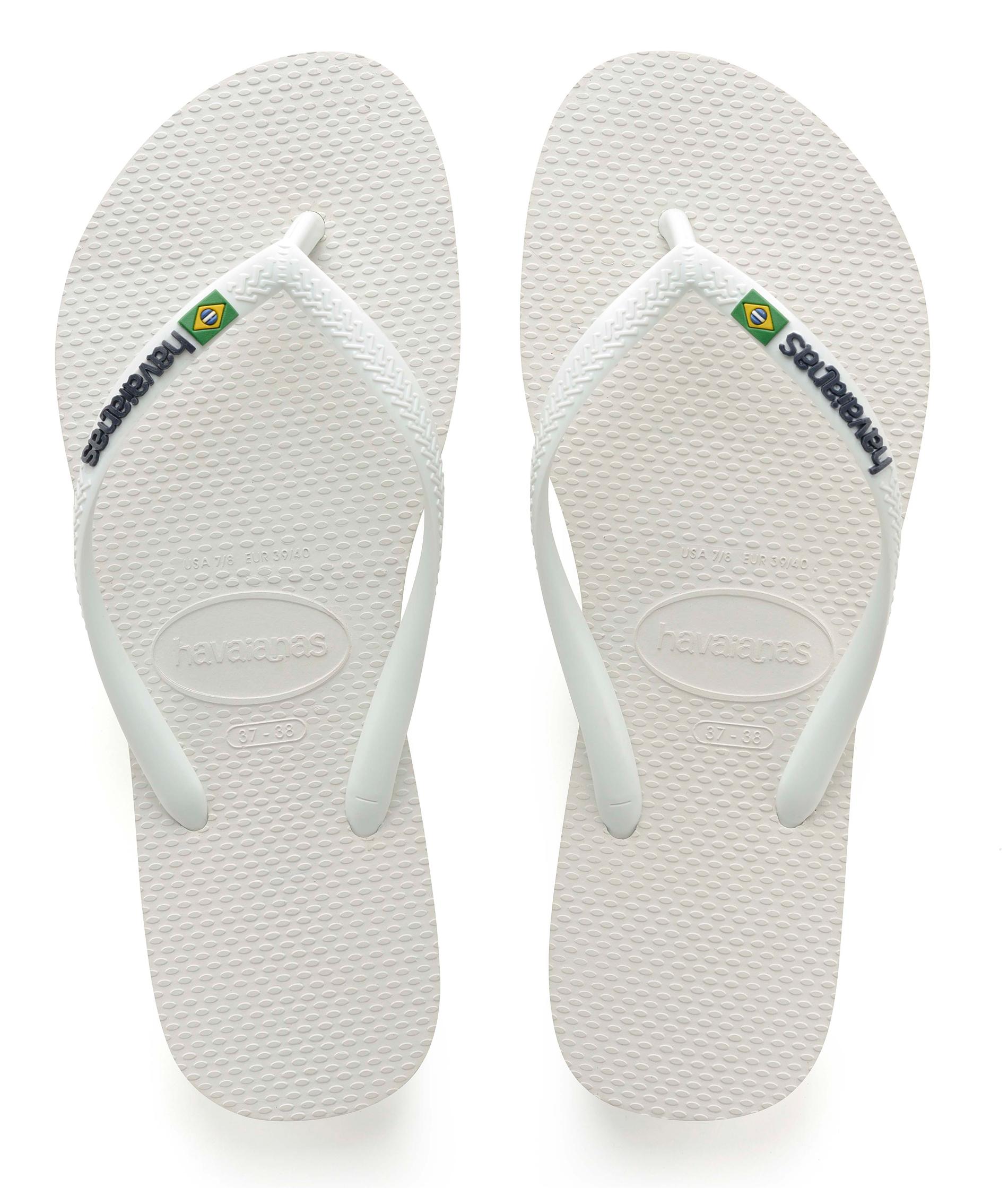 Havaianas Slim Brasil Logo - White