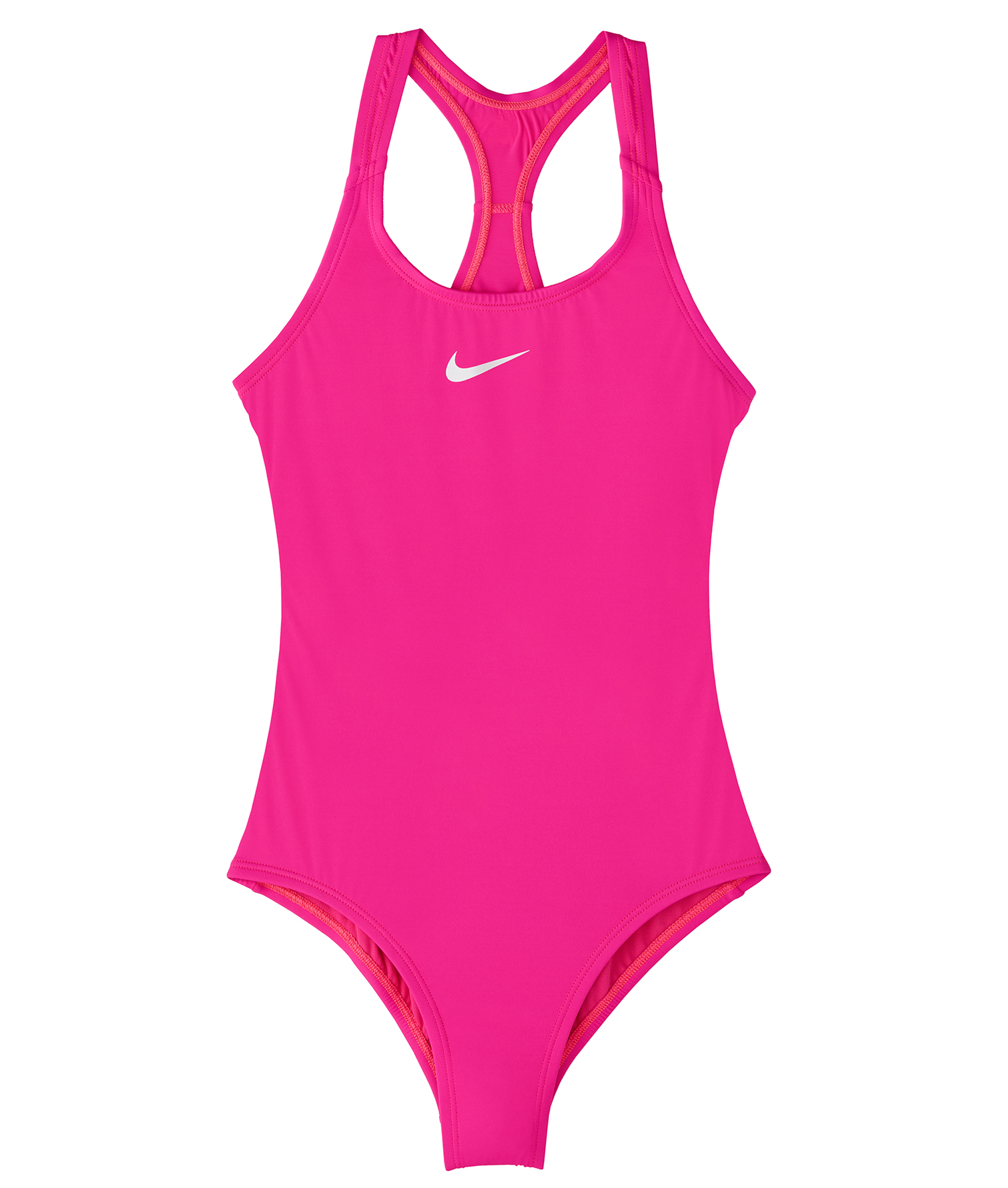Nike Girls Solid Racerback One Piece - Laser Fuchsia
