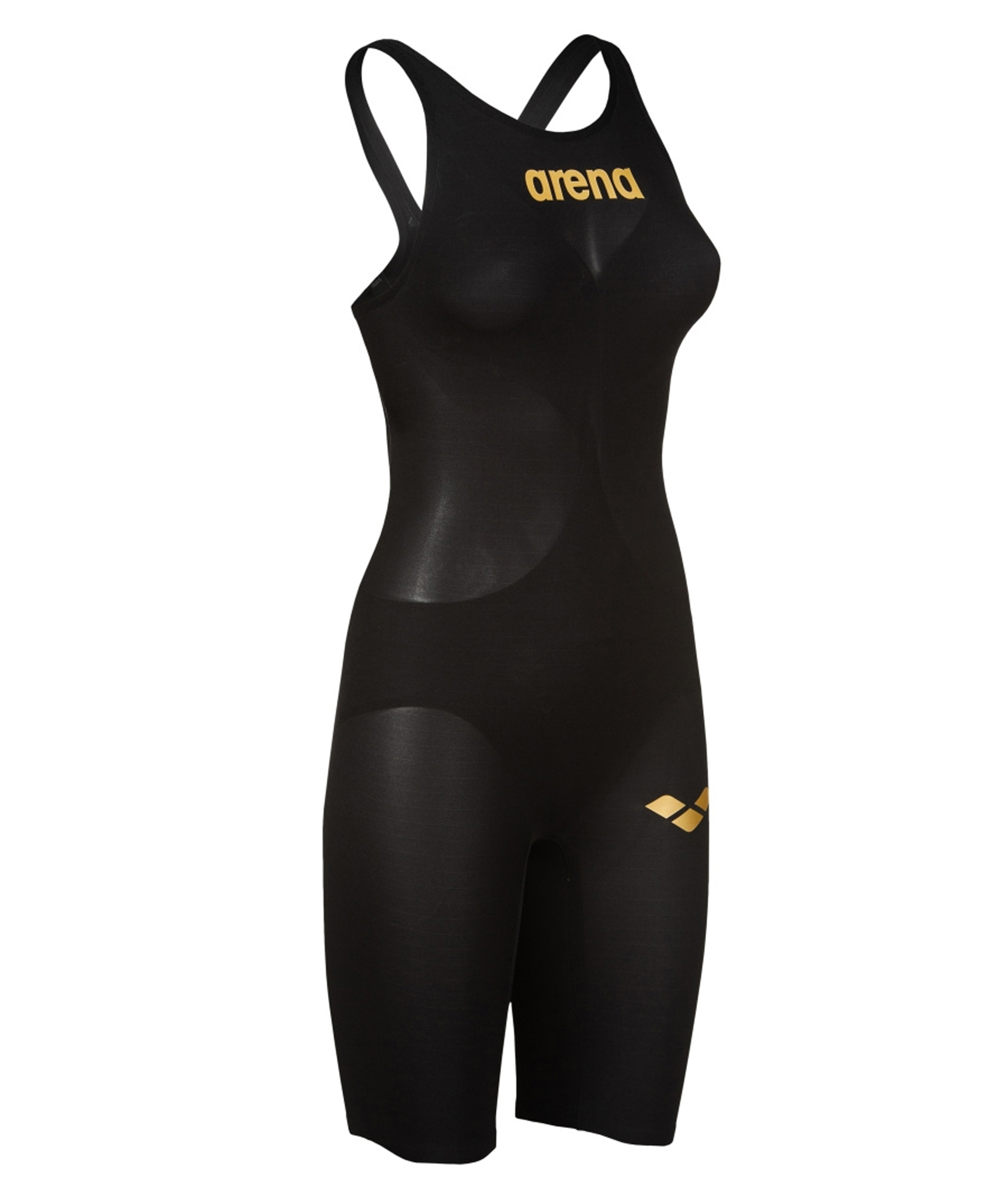 Arena Womens Carbon Air2 Open Back Kneeskin - Black/Gold