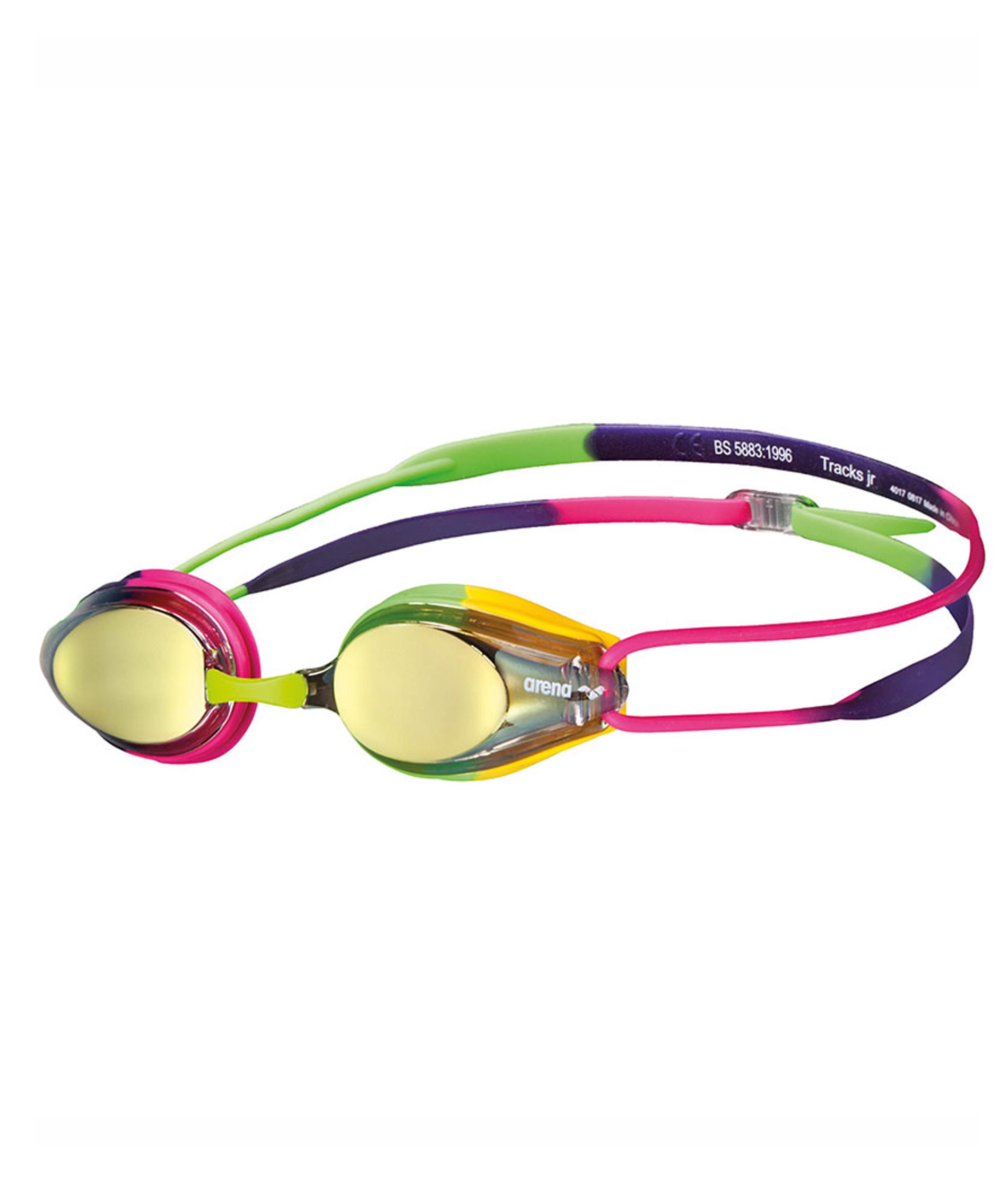 Arena Tracks Junior Mirror Goggles - Voilet/Fushia/Green