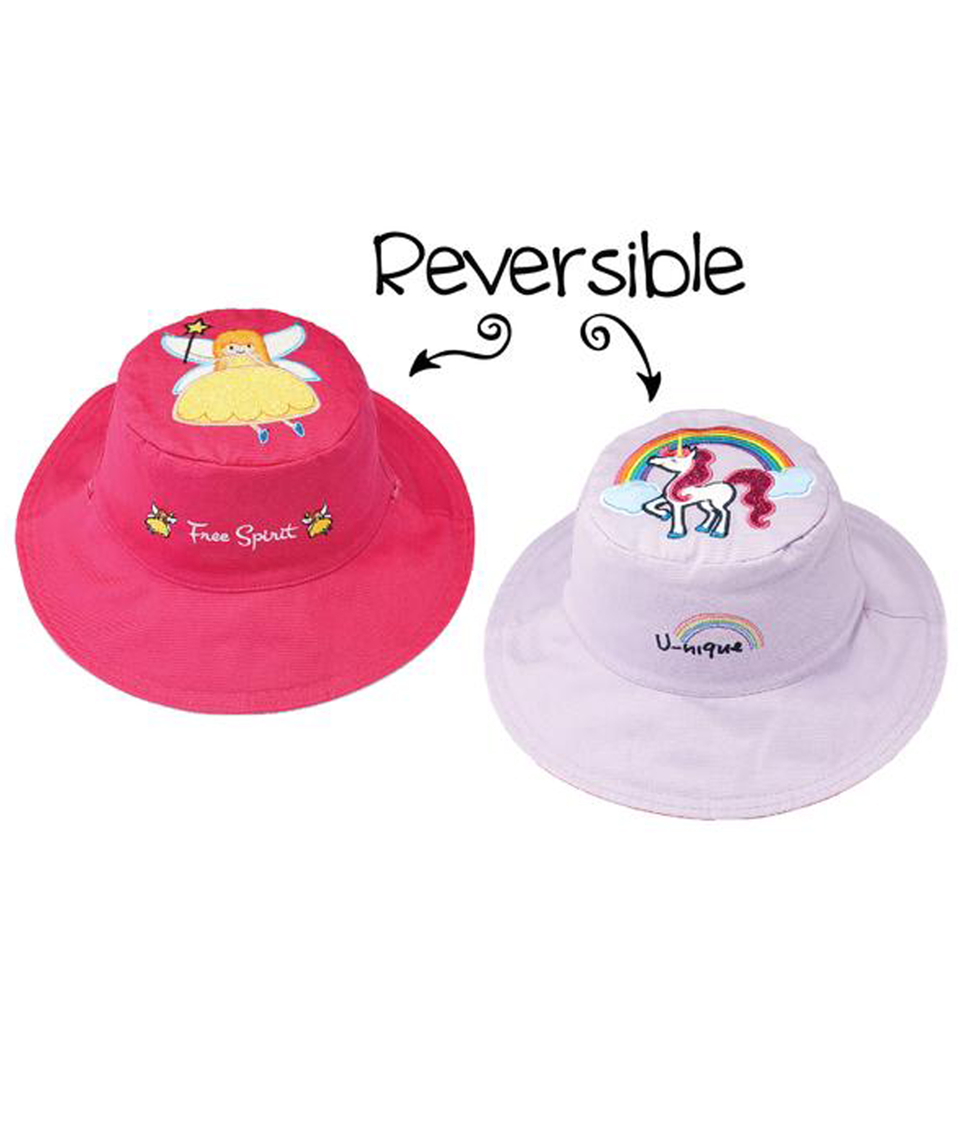 Flapjack Kids Reversible Summer Hats - Princess/Unicorn