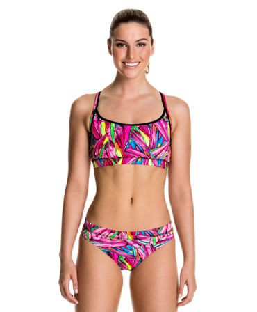 Funkita Ladies Crystal Clash Racer Back Two Piece