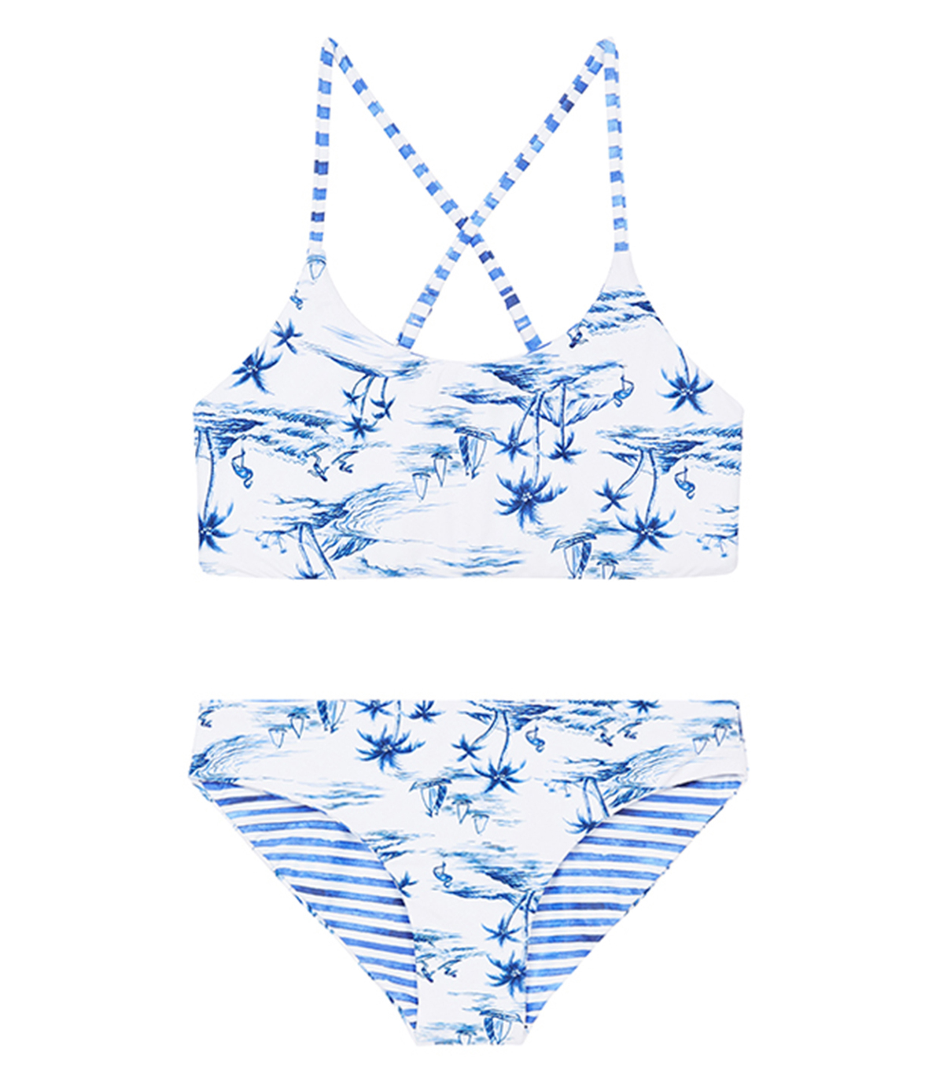 Seafolly Girls Tropical Vibes Reversible Tankini