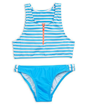 Seafolly Kids Tropical Splice Zip Tankini