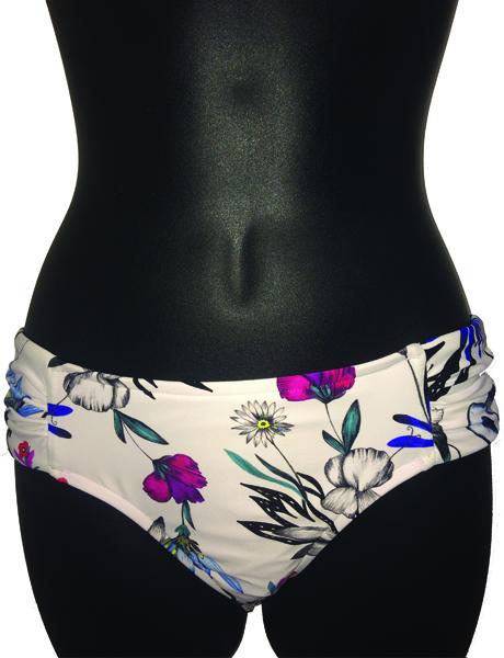 Seafolly Flower Festival Ruched Side Retro Bikini Pant