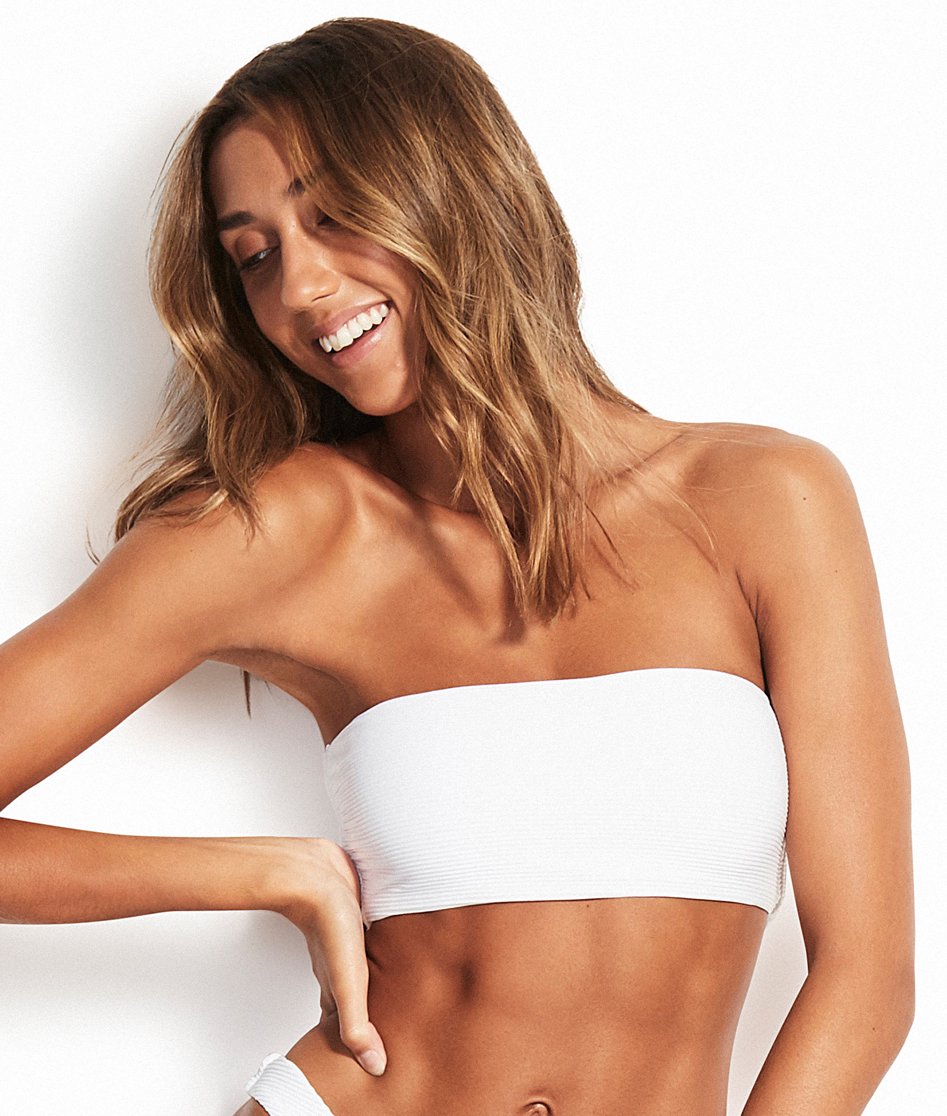 Seafolly Essentials Tube Bandeau Bikini Top - White