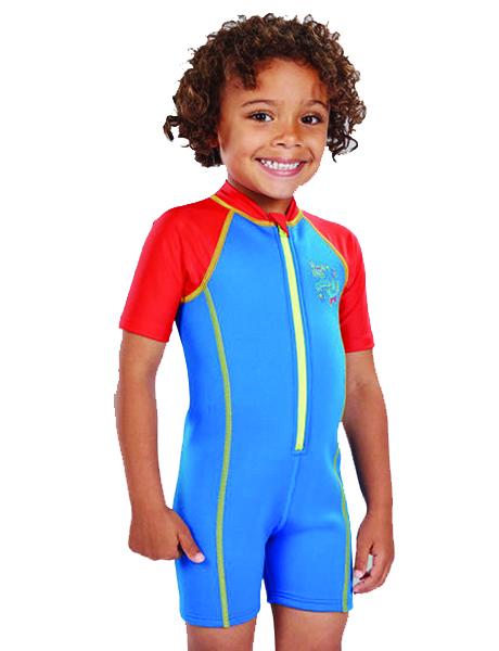 Speedo Sea Squad Hot Tot Suit - Blue/Red