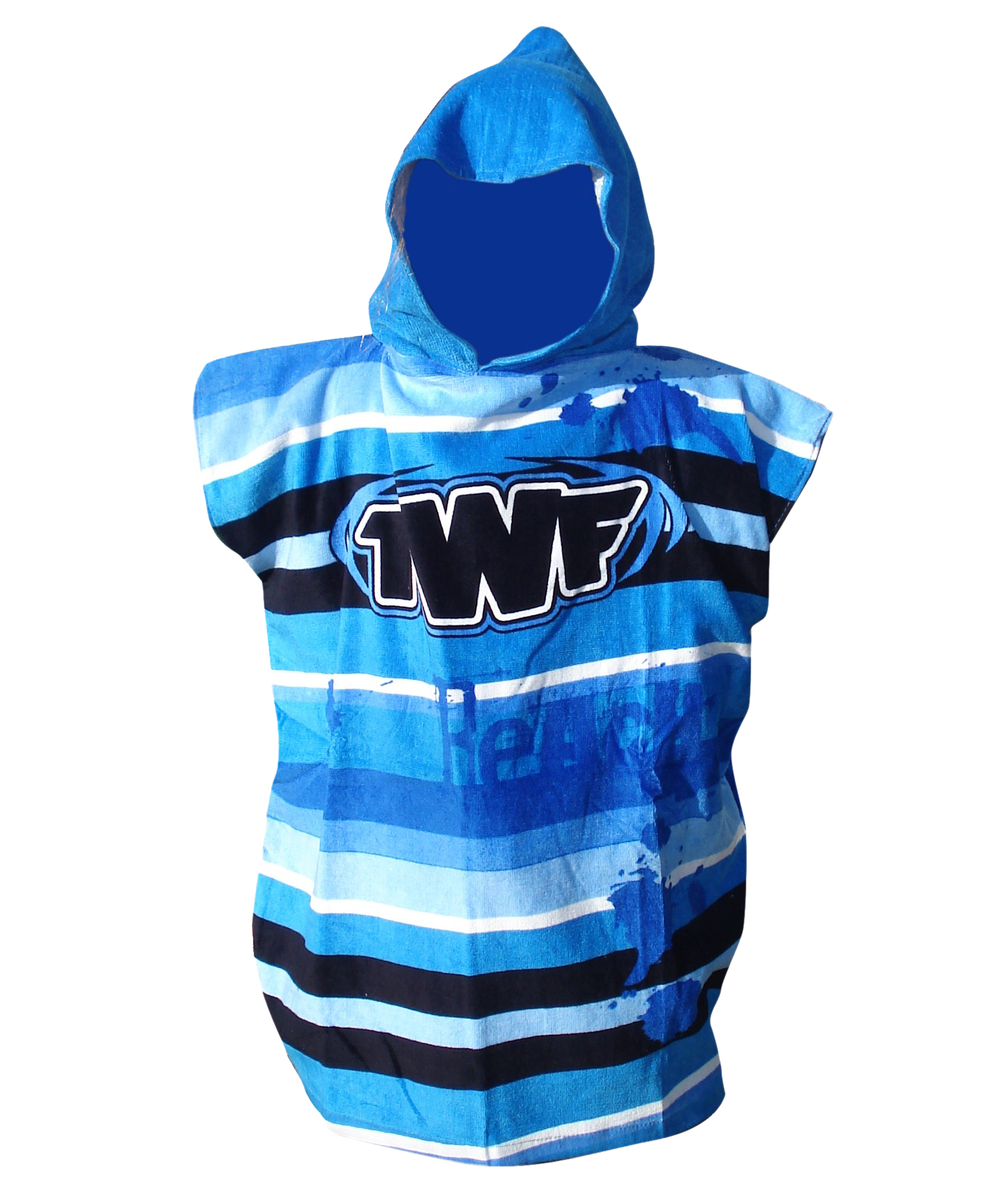 TWF Kids Hooded Towel Poncho - Blue