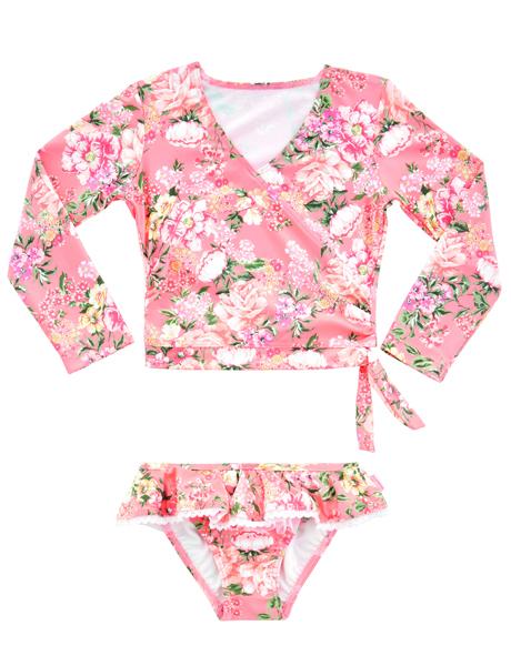 Seafolly Kids Forget Me Not Ballet Rashie Set - Blossom Pink