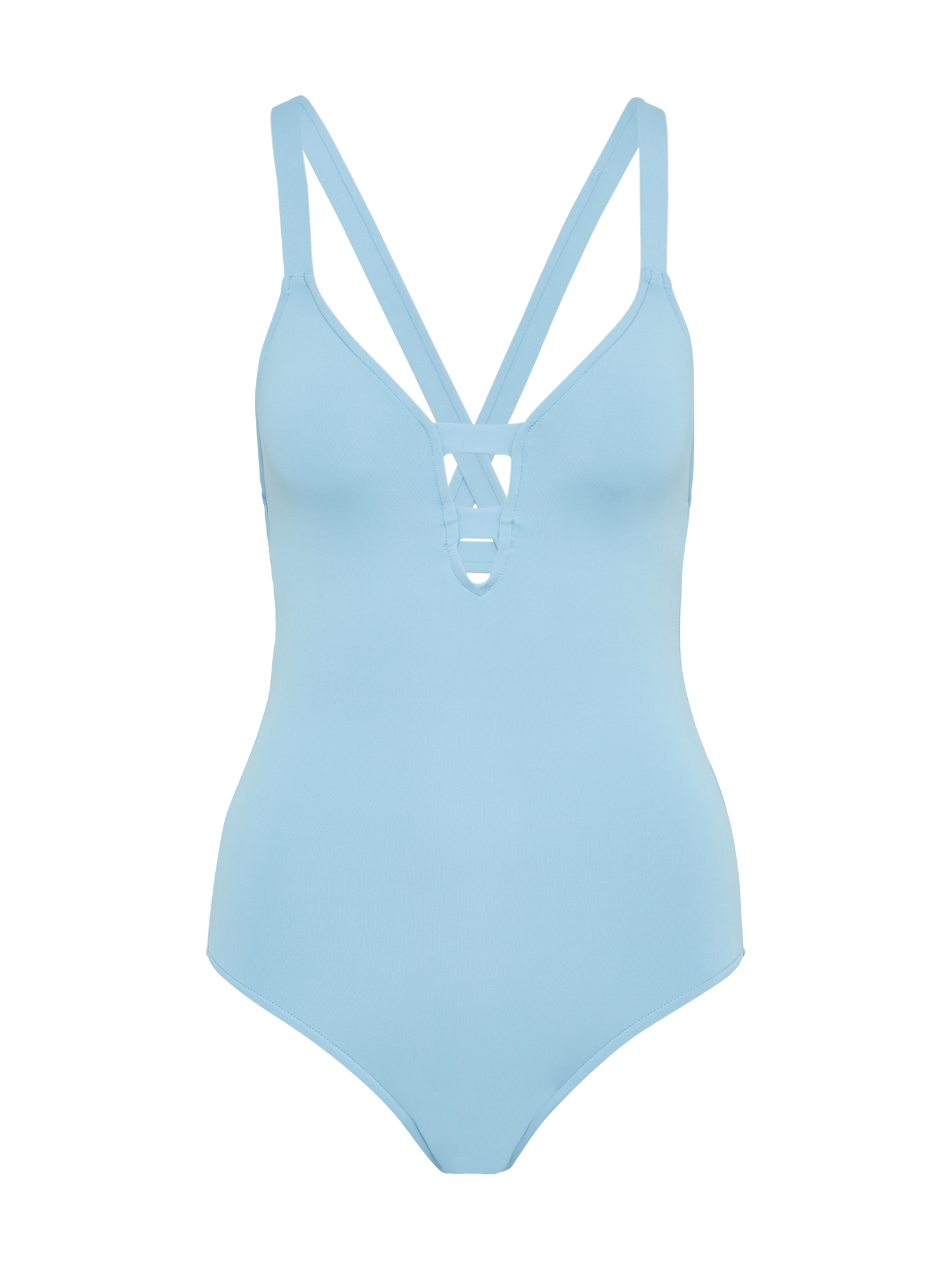 Seafolly Active Swim Deep V Maillot One Piece Blue