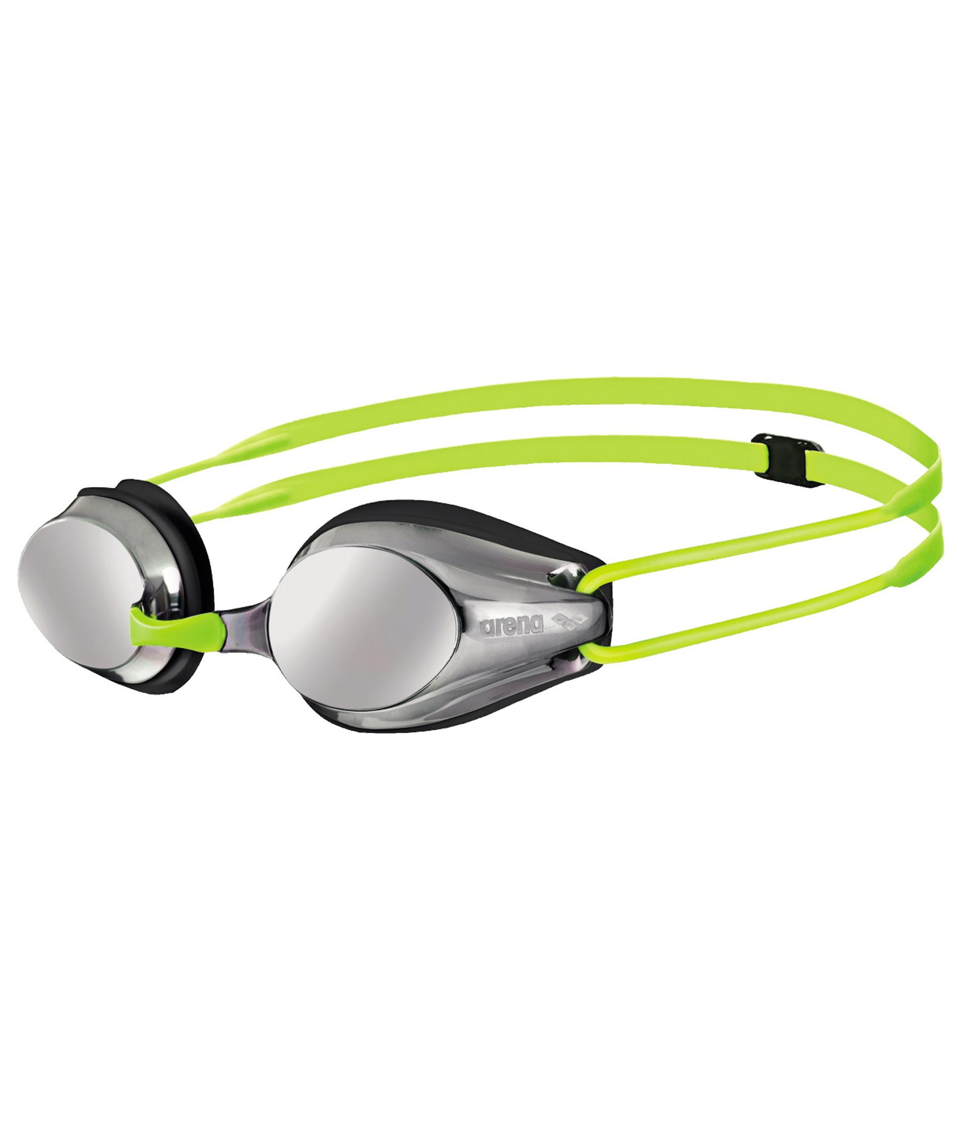 Arena Tracks Junior Mirror Goggles - Silver/Black/Fluorescent Yellow