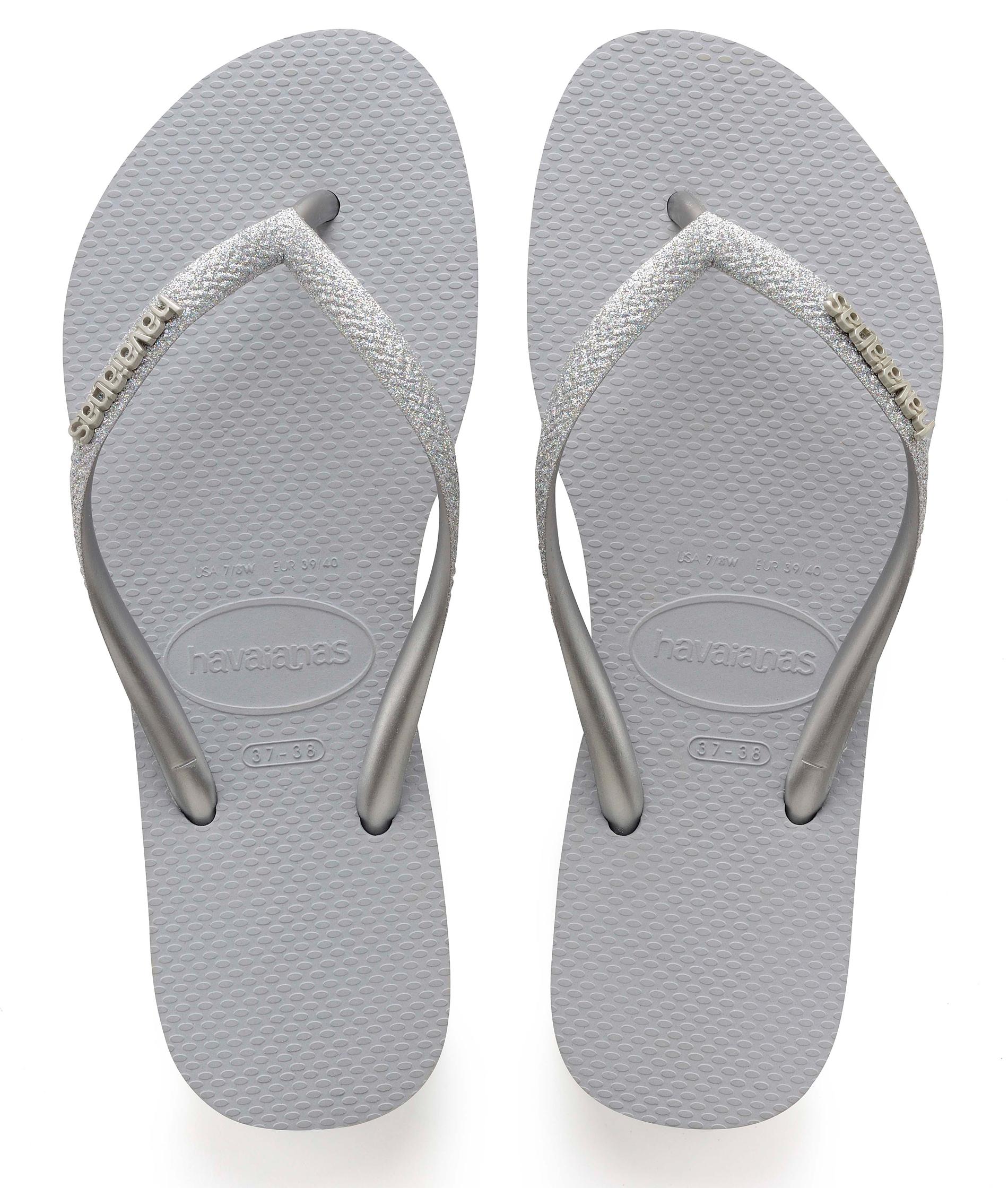 Havaianas Slim Glitter - Ice Grey