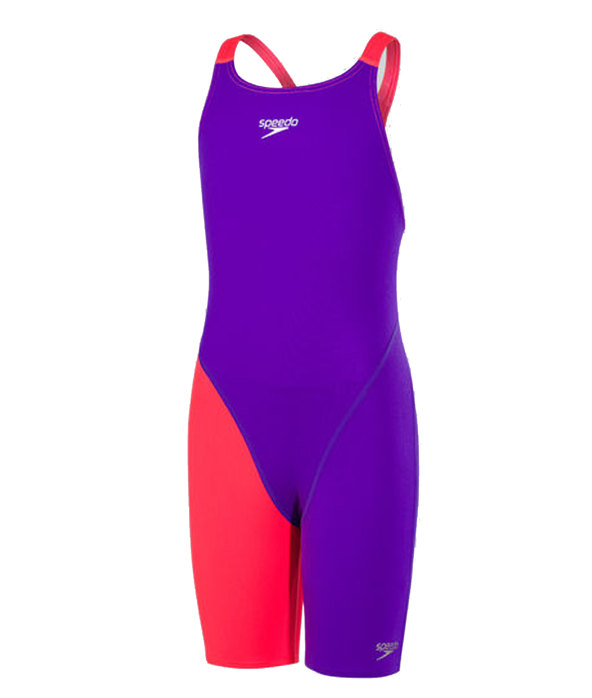Speedo Junior Fastskin Endurance+ Openback Kneeskin - Purple/Red (32-34)