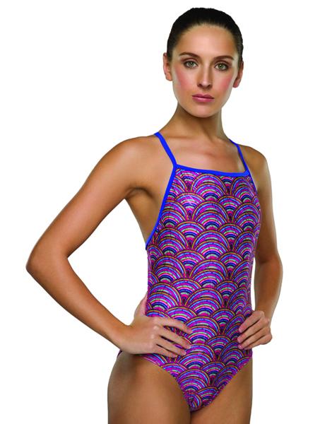 Maru Ladies Rainbow Sparkle Speed Back Swimsuit
