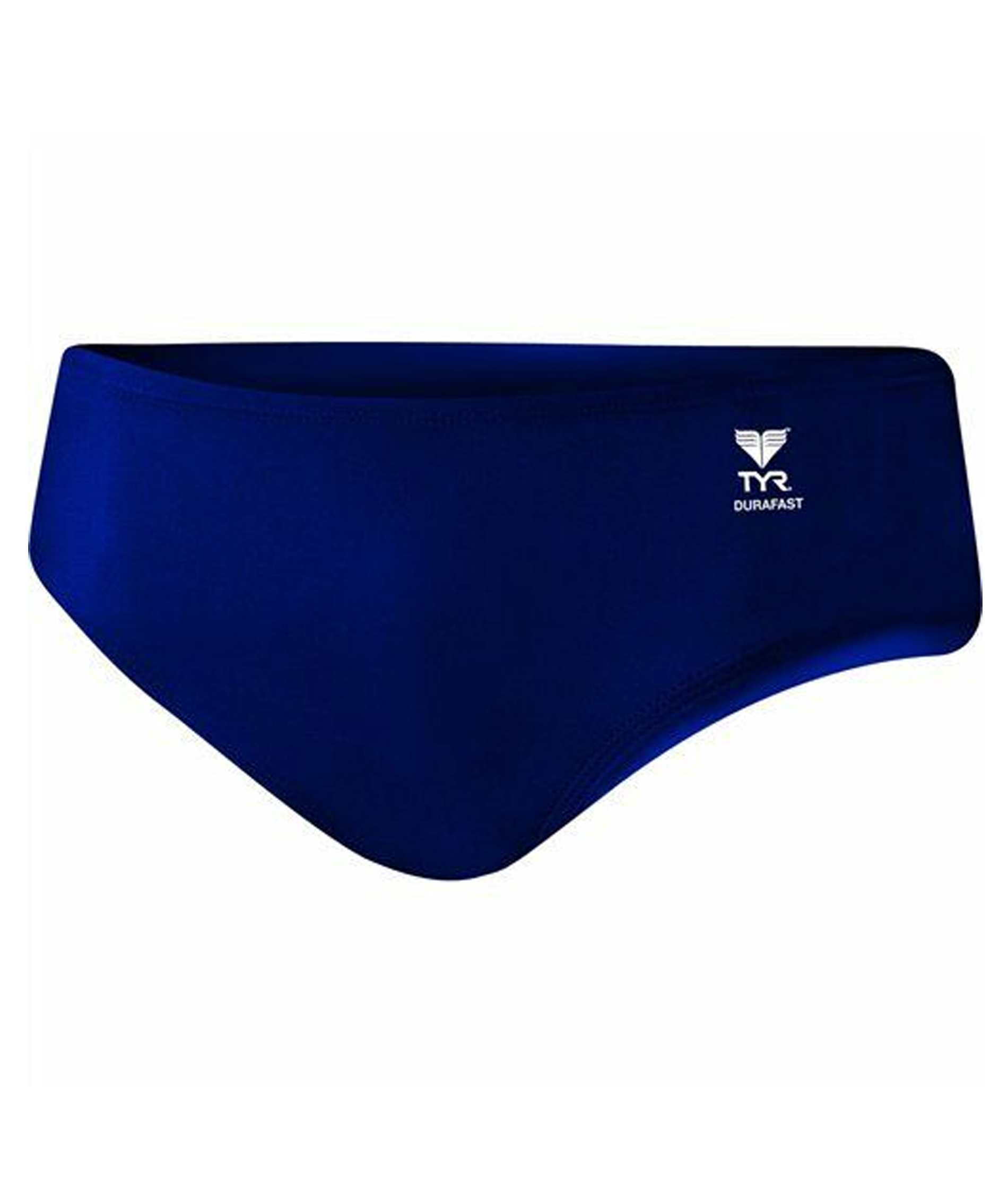 TYR Mens Durafast Elite Solid Racer Brief - Navy