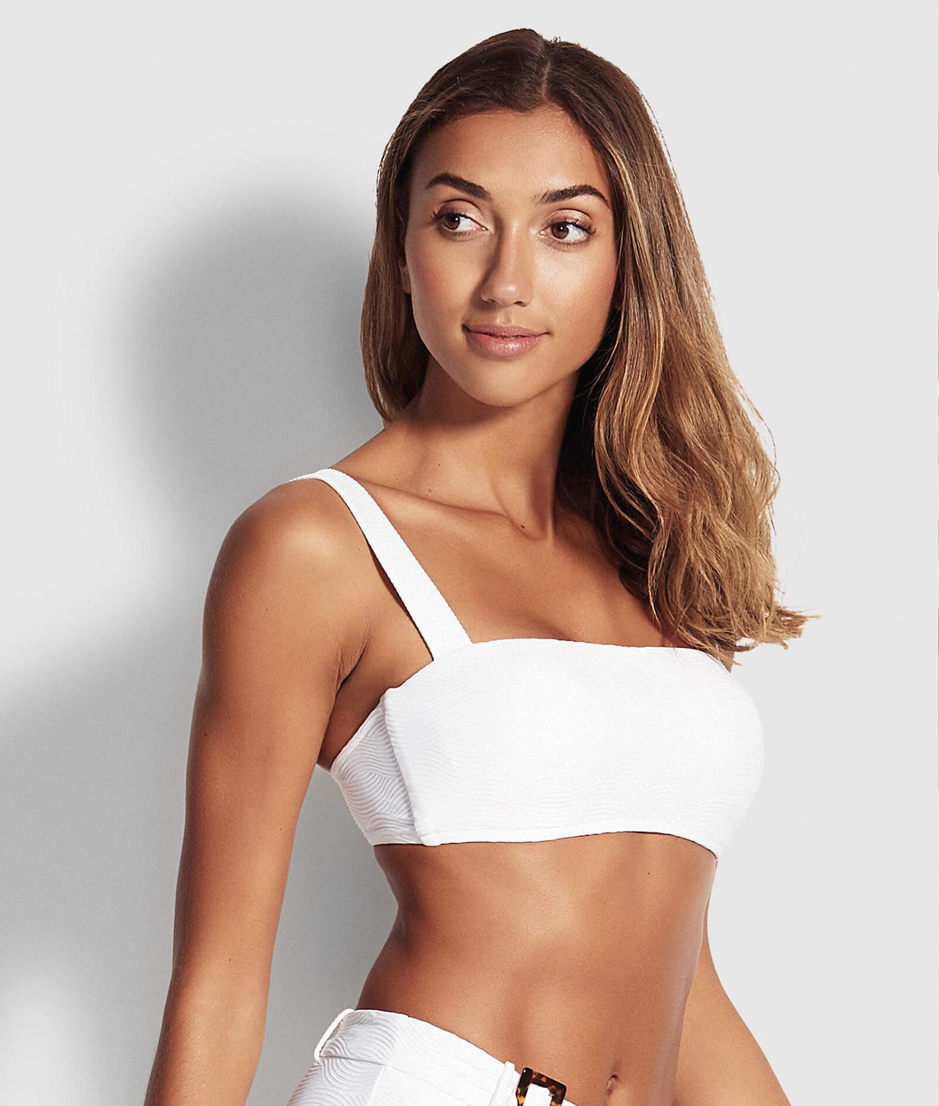 Seafolly Capri Sea Bandeau Bikini Top - White