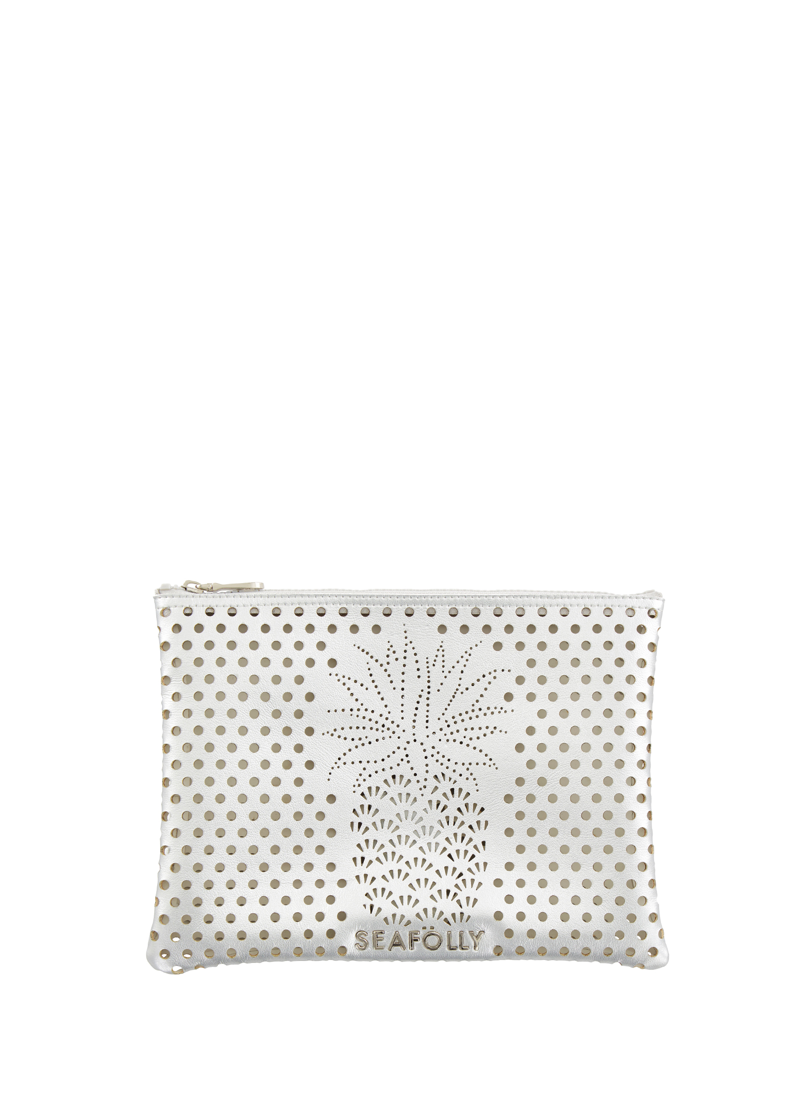 Seafolly Carried Away Pineapple Clutch - Silver