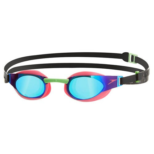 Speedo Fastskin Elite Mirror Goggles (Pink Green)