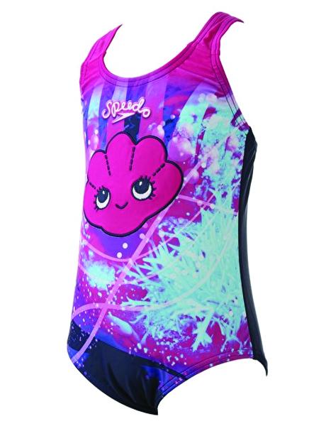 Speedo Sea Squad Girls' Tidal Idol Essential Applique Swimsuit