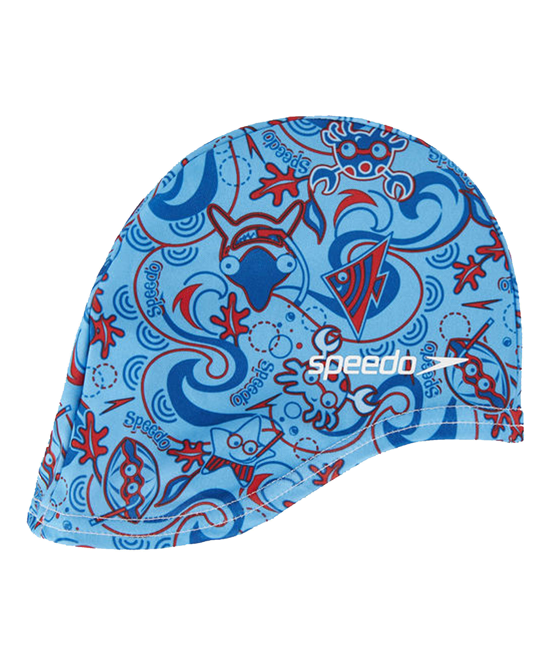 Speedo Sea Squad Junior Polyester Cap - Blue