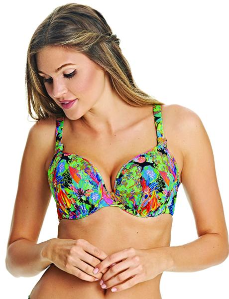 Freya Swim Island Girl Black Uw Bandless Deco Moulded Bikini Top