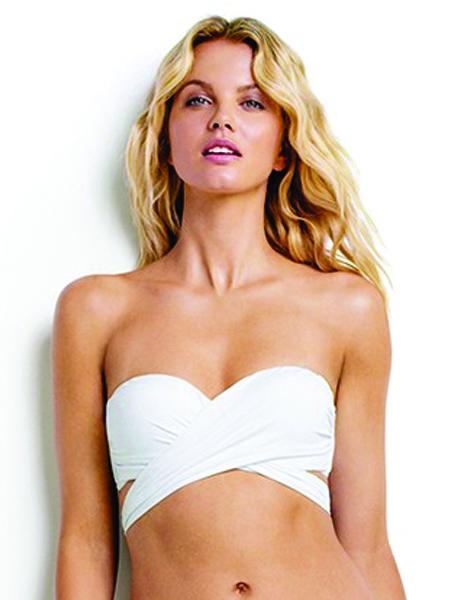 Seafolly Wrap Front Bikini Top - White