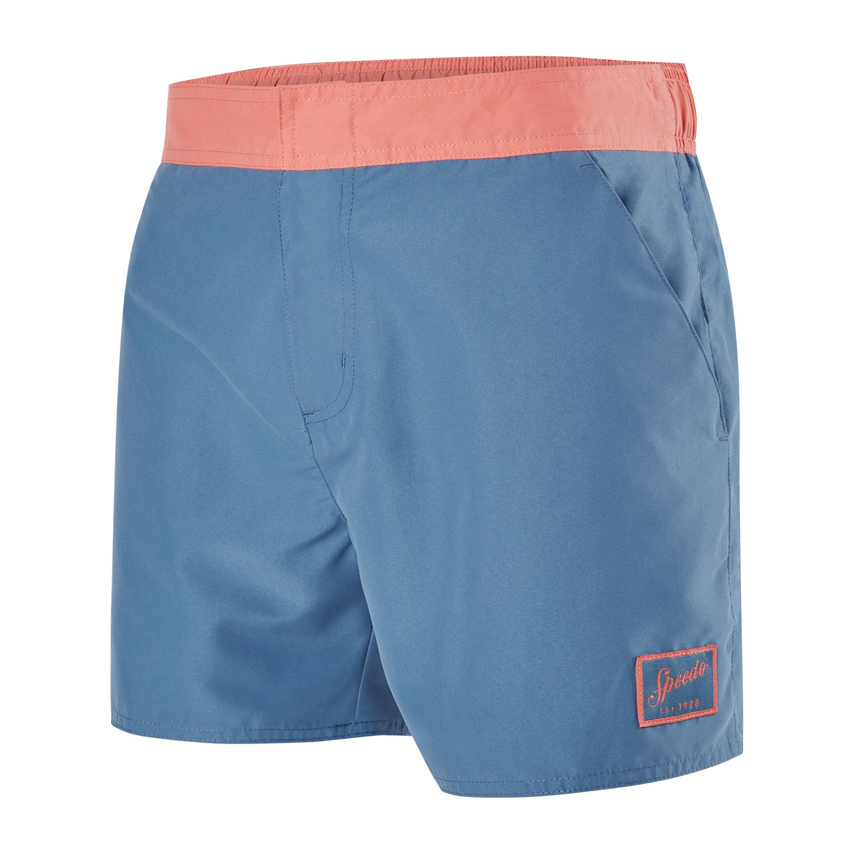 Speedo Mens Vintage Contrast 14 Watershort - Blue/Orange