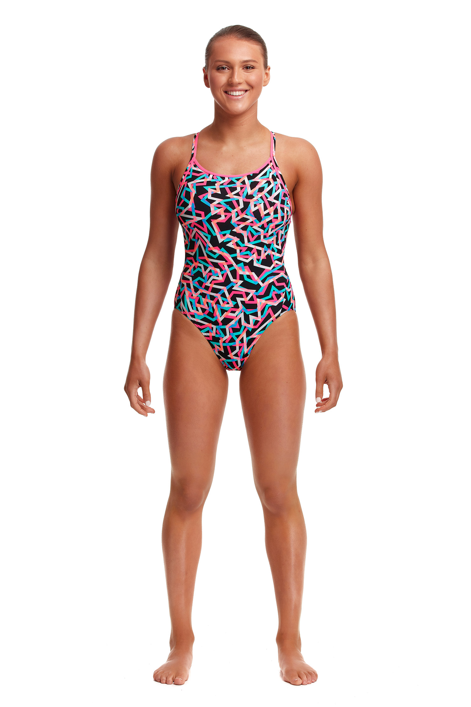 Funkita Ladies Live Streamer Diamond Back One Piece
